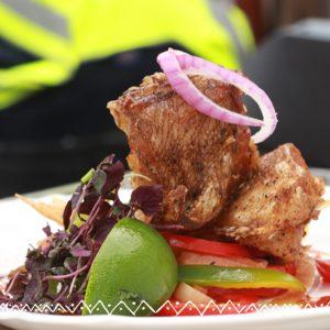 Browned stew fish